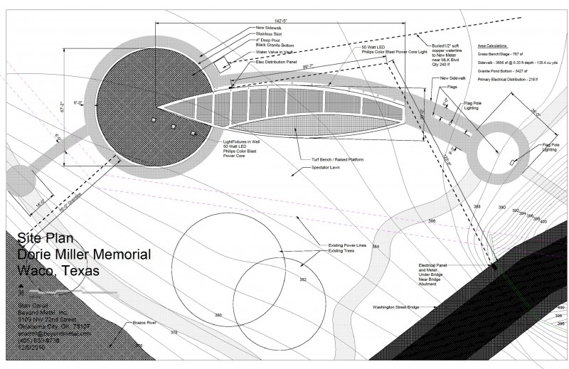 Technical Drawing of the site - Stan Carroll, architect